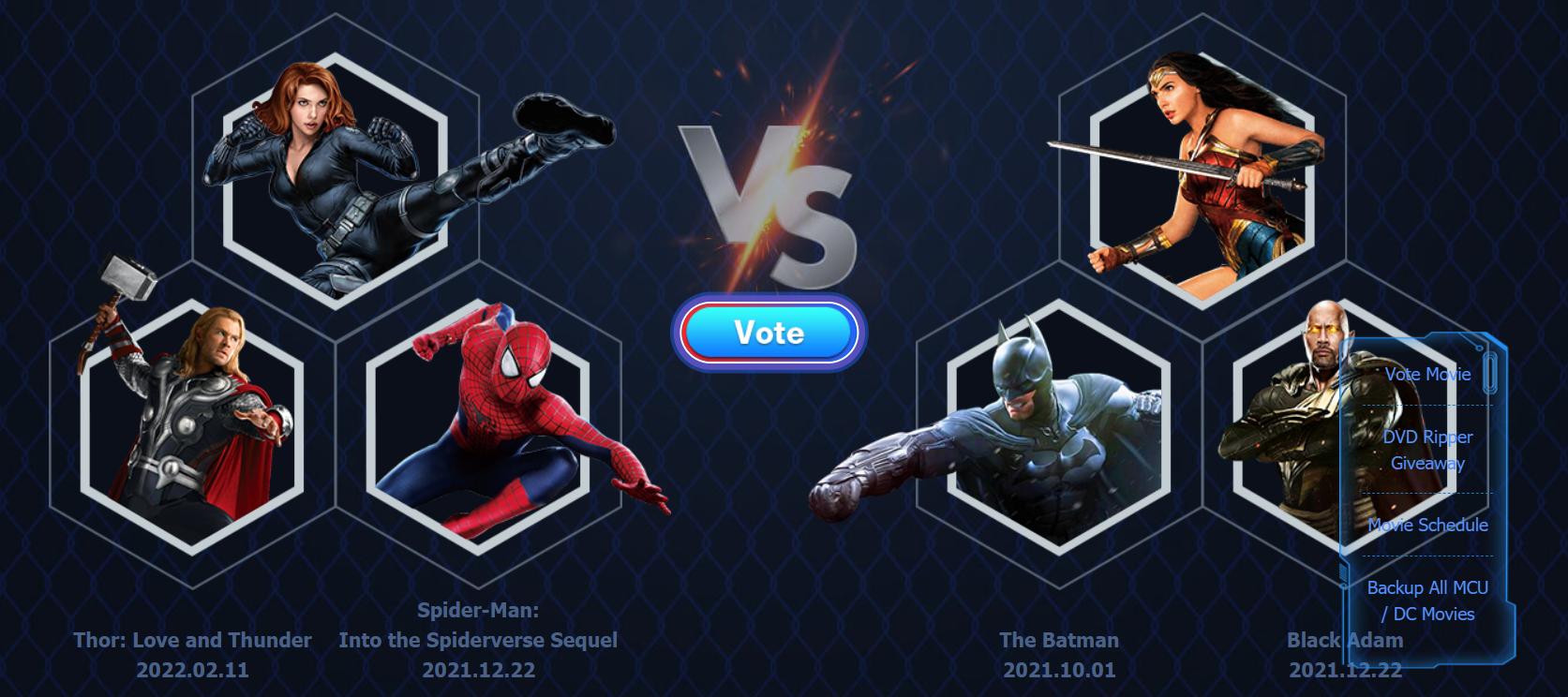 vote for superhero