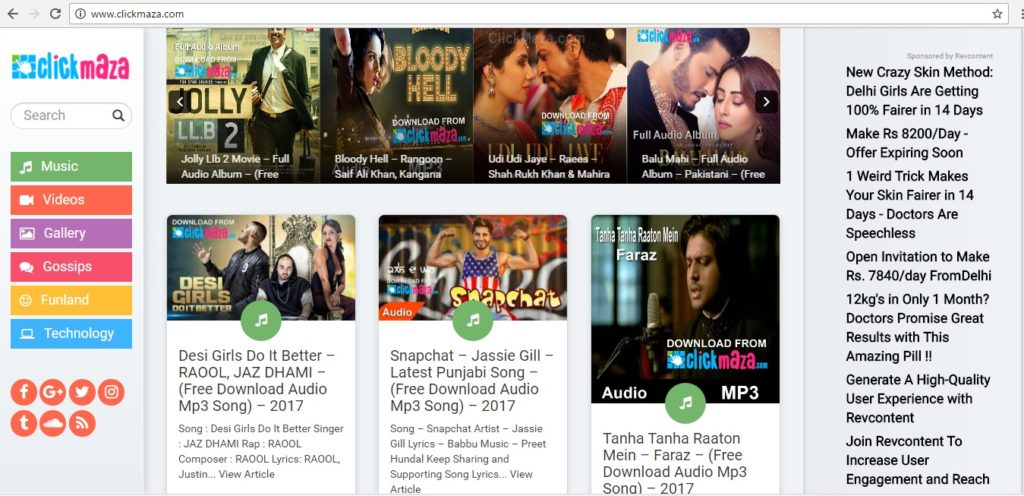 bollywood songs download website clickmaza