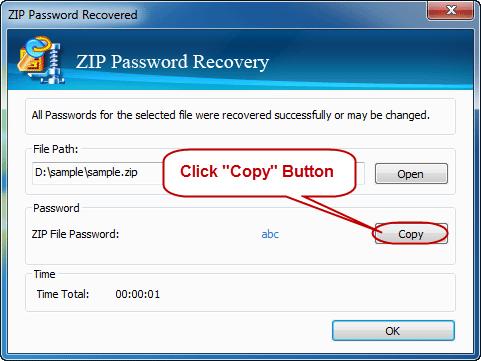 remove password of zip files