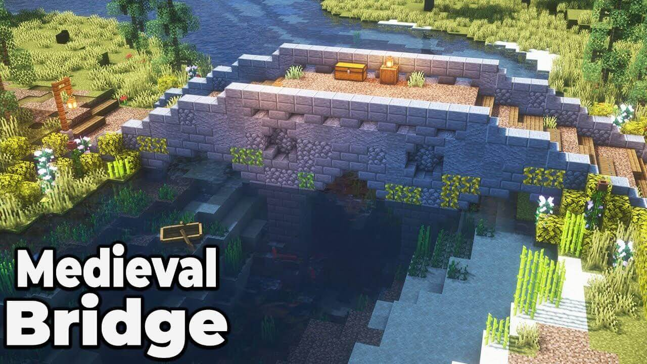 minecraft medieval bridge design